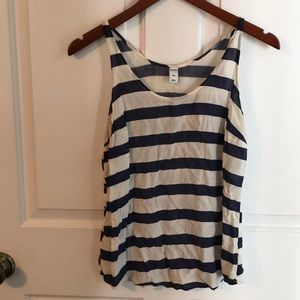 🌺 Old Navy Blue/Off White Stripe Tank Top!